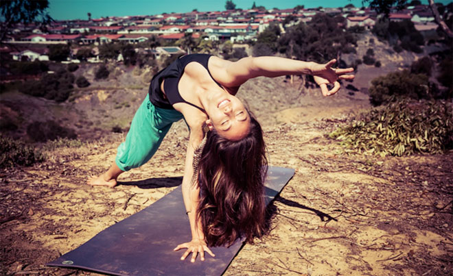 Model: Breeanne Macouzet on Manduka Pro Light. Photographer: Jessica Bernstein