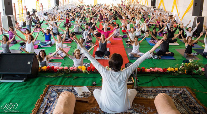 International Yoga Festival at Rishikesh, India (March 1-7, 2016) Photo courtesy Kyer Wiltshire