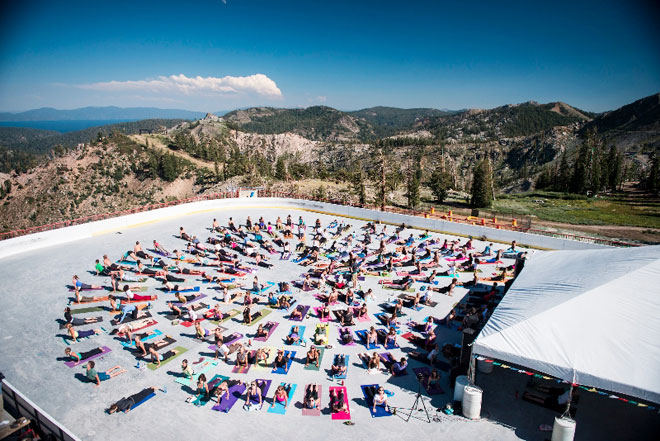 Wanderlust at Squaw Valley. Image courtesy of Wanderlust Festivals. Used by permission.