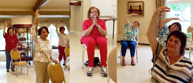 Chair Yoga class with Patricia Tavis