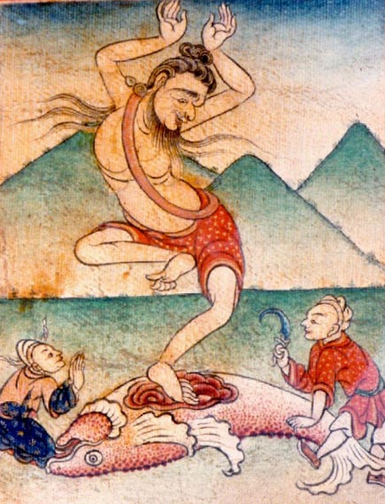 Figure 7. The Siddha Minapa, who is often identified with Matsyendra