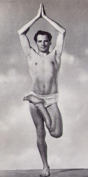 Figure 8. Theos Bernard, the great yoga teacher of the 1930s and 40s in Tree