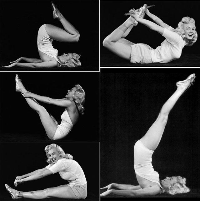 Every Known Pic of Marilyn Monroe in a Yoga Pose ...
