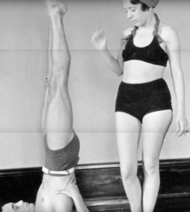 Figure 5. A very young Indra Devi teaching the Russian, Michael Volin, in China, c. 1940