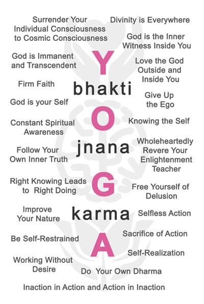 The Bhagavad Gita: Karma, Jnana and Bhakti Yoga